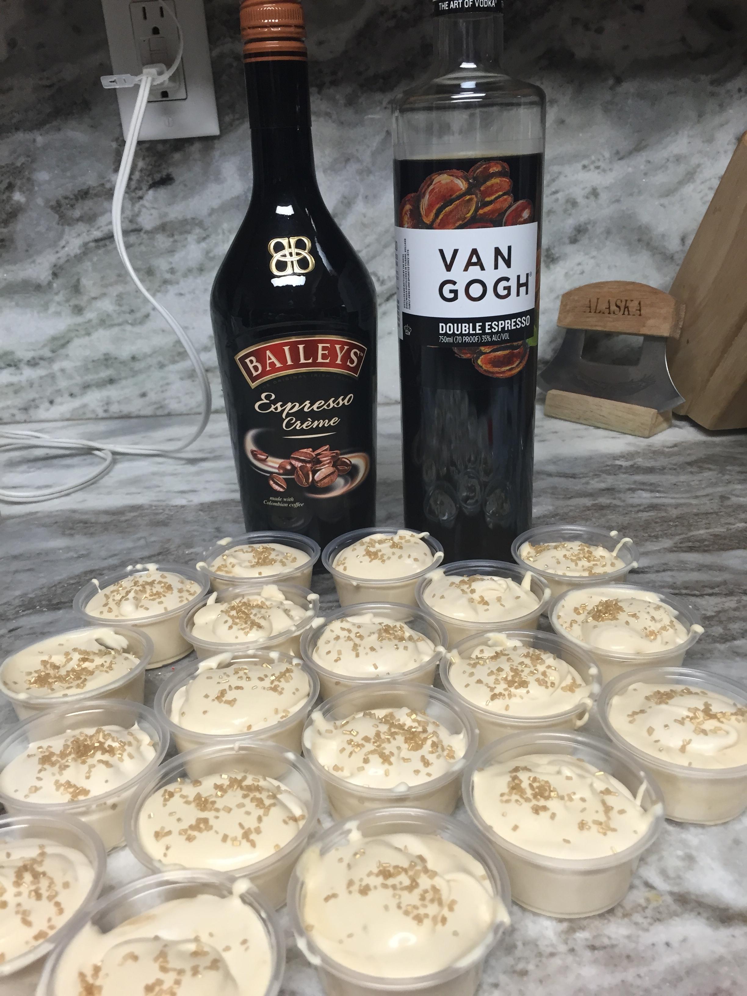Espresso Pudding Shots Pudding Shot Madness
